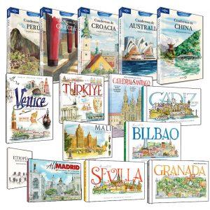 cuadernos de viaje ilustrados a acuarela