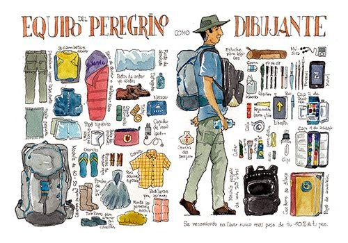 Guia para el sketcher en el Camino de Santiago: El Camino de Santiago dibujado