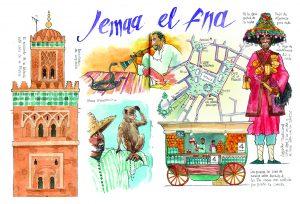 Cuadernos de viaje Jemaa el fna