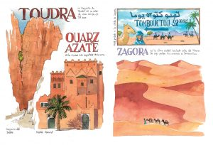 Cuaderno de viaje Ouarzazate Zagora Toudra