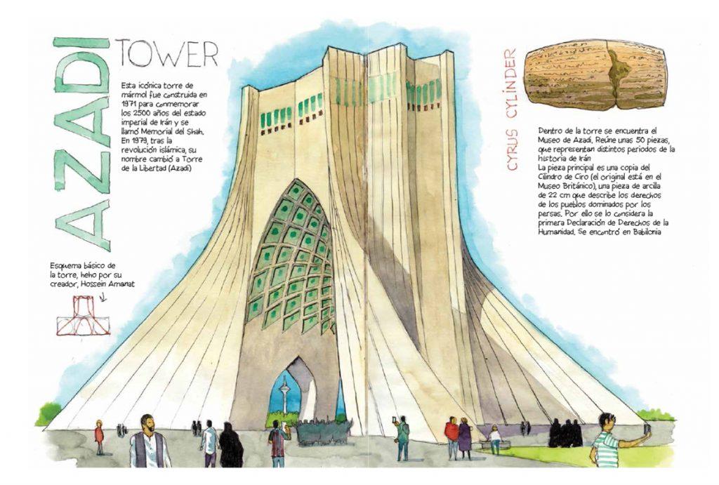 Iran cuaderno de viaje Teheran