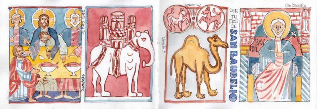 San Baudelio ermita dibujos