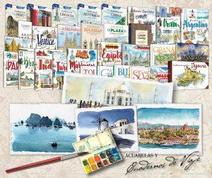Acuarela, dibujo y libros de viaje con acuarelas