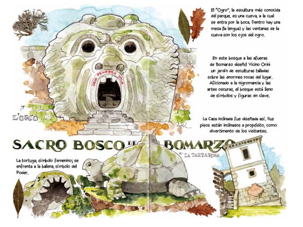 Bomarzo acuarela watercolor