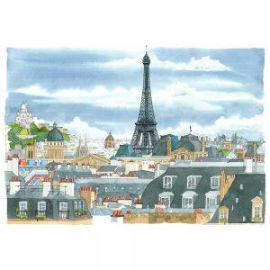 Paris acuarela